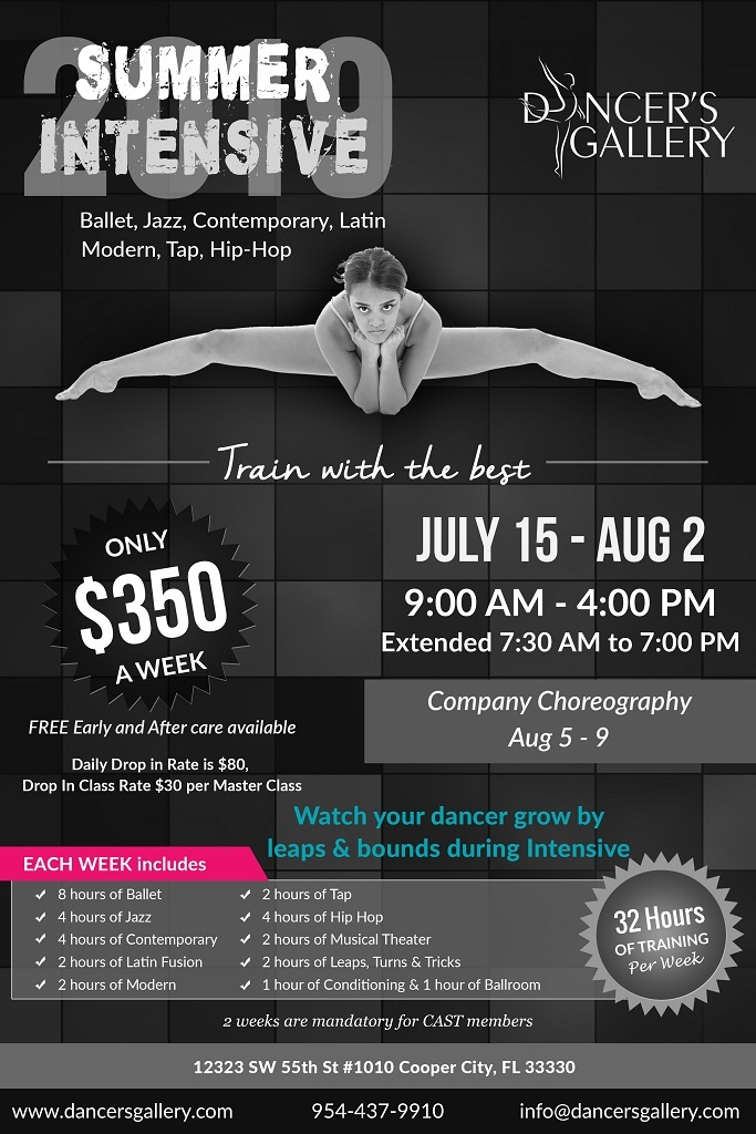 Summer Dance Intensive (Ballet, Tap, Jazz, Latin Dance, Modern, Hip